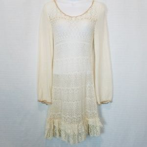 Free People | Wool Lace Sheer Dress M